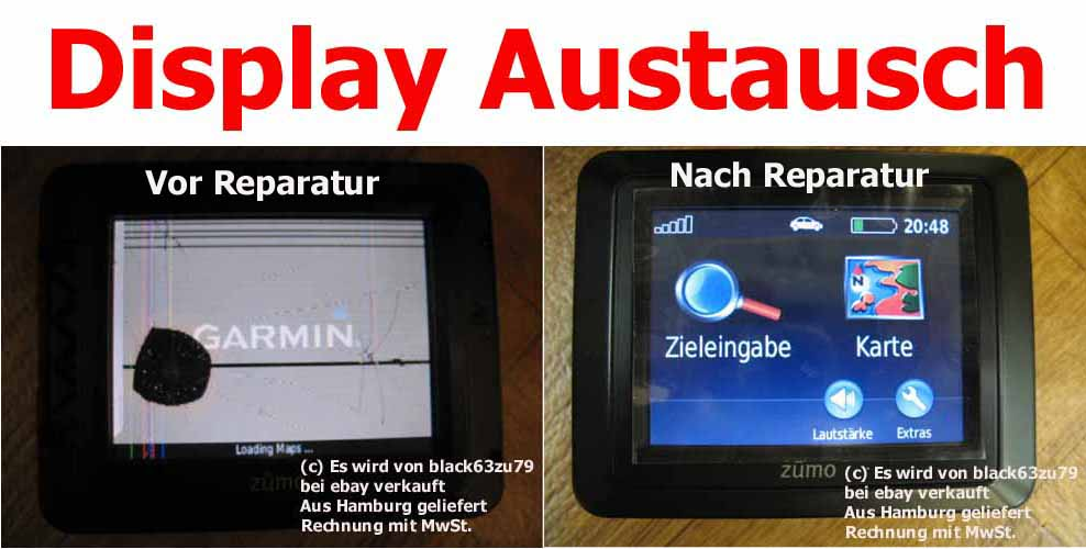 Kostenvoranschlag Display Touchscreen Reparatur Garmin Mobile ...