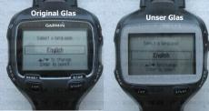 #221 Frontglas Garmin Forerunner 910XT Ersatz Glass Glas Replacement Part