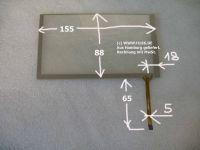 6,2 Touchscreen 155x88x1,5mm Kabel rechts