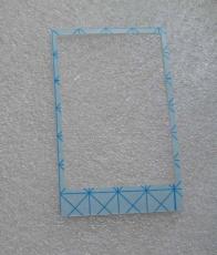 Rahmen Kleber Klebepad Klebefolie Garmin Dakota 10 20