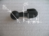 #300 Kugel Aufnahme 16 mm Adapter Brücke Halterung
